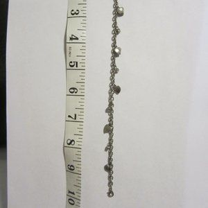 Vintage Gun Metal tone Charm Bracelet
